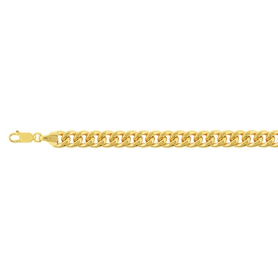 5mm Hollow Cuban Gold Bracelet