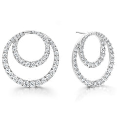 4.64 ctw. Optima Diamond Circle Earrings- Large in 18K Yellow Gold
