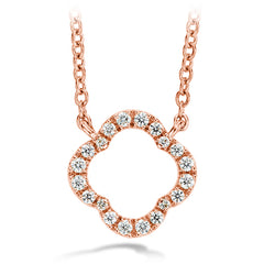 0.1 ctw. Signature Petal Pendant in 18K Rose Gold