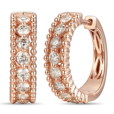 Le Vian Strawberry Gold® Earrings with Nude Diamonds™ 1 cts.