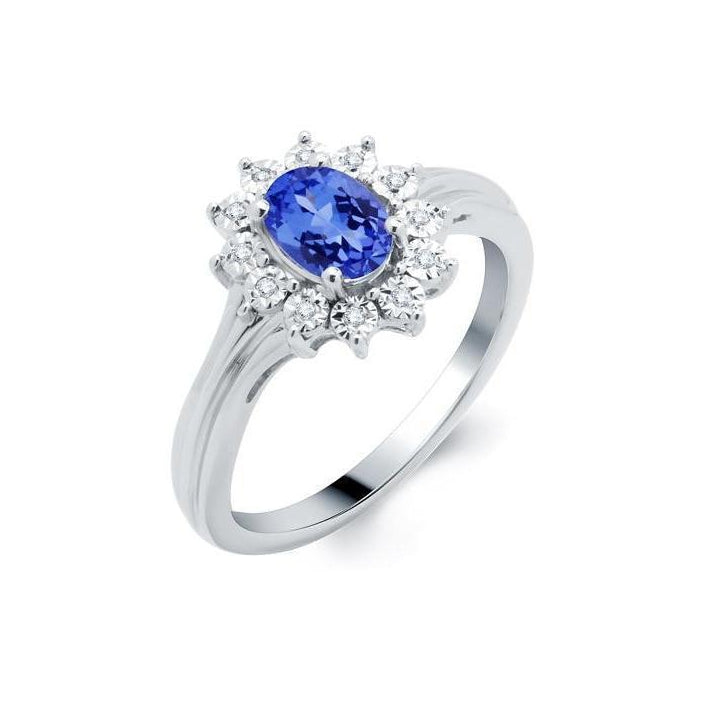 Tanzanite and Diamond Miracle Ring - ShopMilano