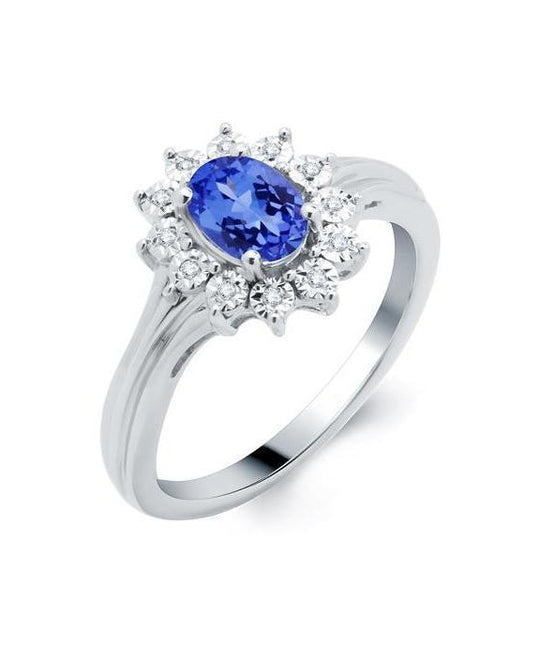 Tanzanite and Diamond Miracle Ring