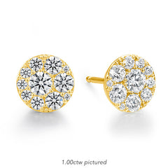 Tessa Diamond Circle Earrings in 18K Yellow Gold