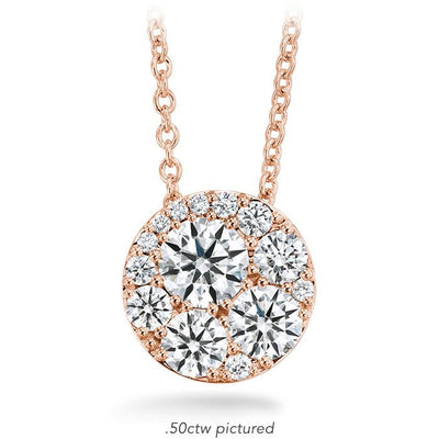 Tessa Diamond Circle Pendant in 18K Rose Gold