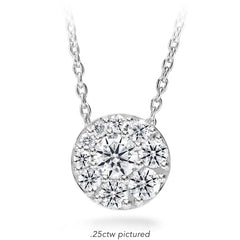 Tessa Diamond Circle Pendant in 18K White Gold