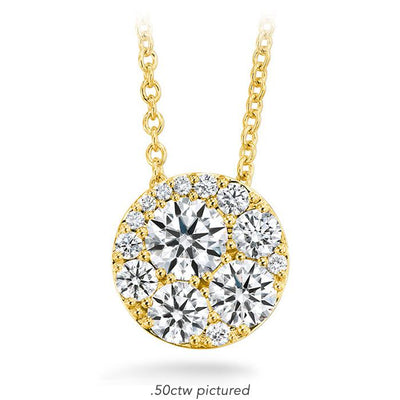 Tessa Diamond Circle Pendant in 18K Yellow Gold