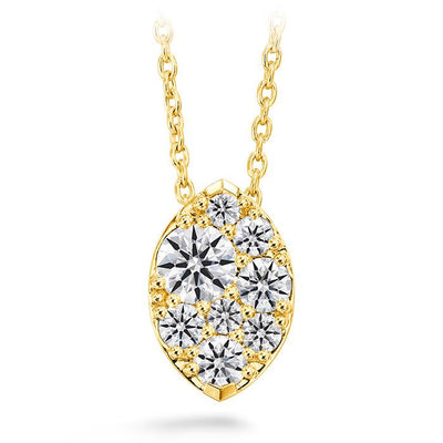 Tessa Diamond Navette Pendant in 18K Yellow Gold
