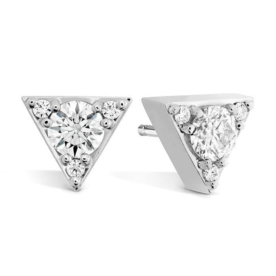 Triplicity Triangle Stud Earrings in 18K Rose Gold