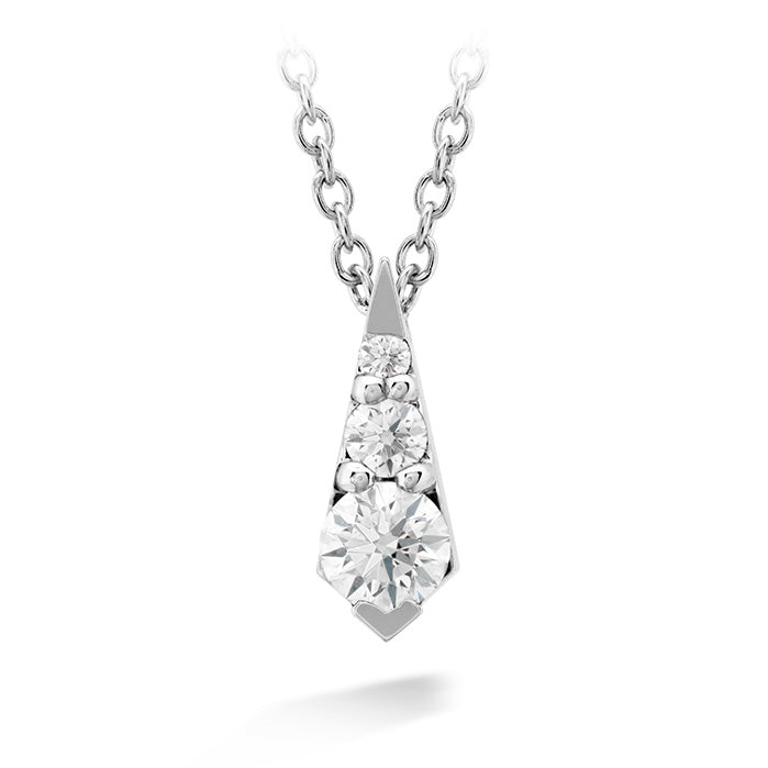 0.2 ctw. Triplicity Drop Pendant in 18K White Gold