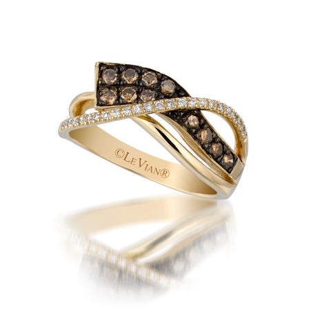 Le Vian Honey Gold Chocolate & Vanilla Diamond Fashion Ring