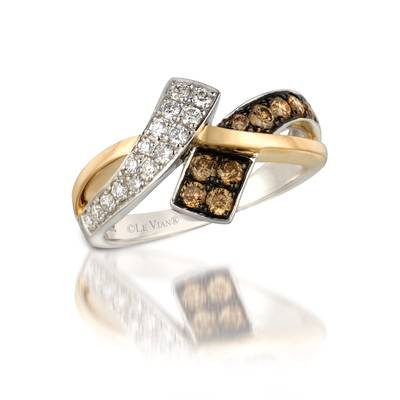 Le Vian Two Tone Gold Ring with Chocolate and Vanilla Diamonds