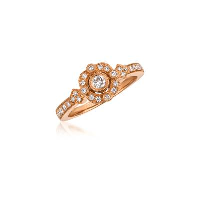 Le Vian Strawberry Gold Ring with Vanilla Diamonds