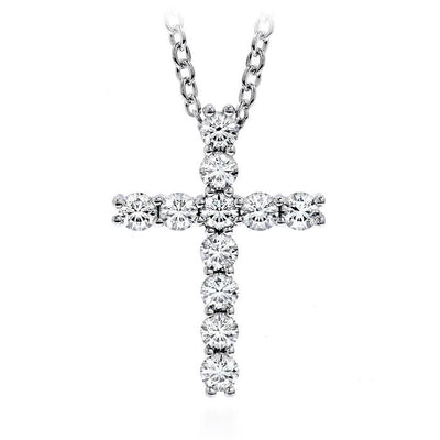 Whimsical Cross Pendant Necklace in 18K White Gold