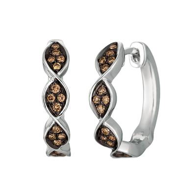 Le Vian Vanilla Gold Earrings with Chocolate Diamonds