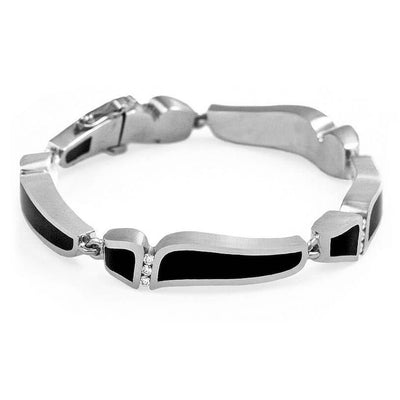 Wave Breaker Bracelet in White Gold