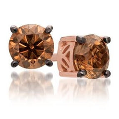 Le Vian Strawberry Gold Earrings with Chocolate Diamonds