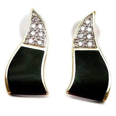 Pave Wavy Earrings Classic Collection