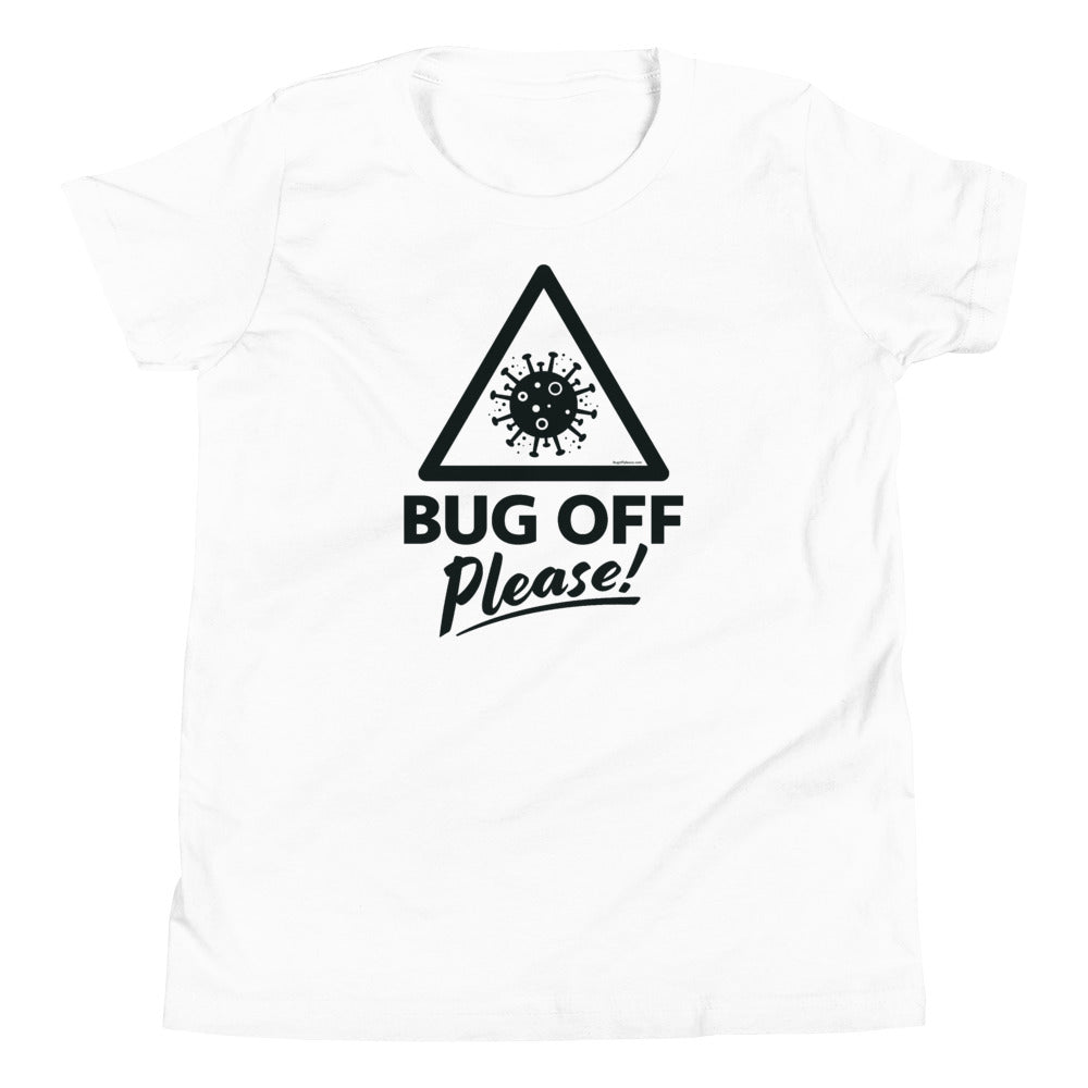 Youth Premium Tee - BOP Style 1K - Black & White - Bug Off Please!