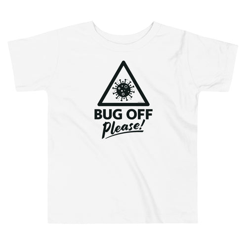 Toddlers Premium Tee - BOP Style 1K -  Black & White - Bug Off Please!