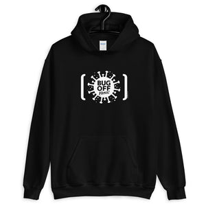 Unisex Heavy Blend Hoodie - BOP Style 2A-White - Tee Fighter - Black & White - SE - Bug Off Please!