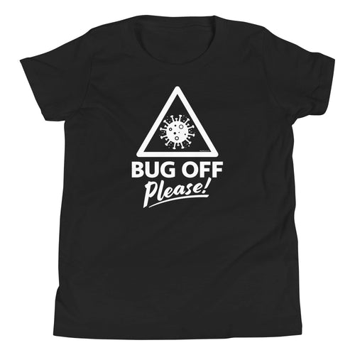 Youth Premium Tee - BOP Style 1W - Black & White - Bug Off Please!
