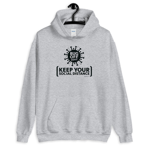 Unisex Heavy Blend Hoodie - BOP Style 2B-Black - Gray Area - Bug Off Please!