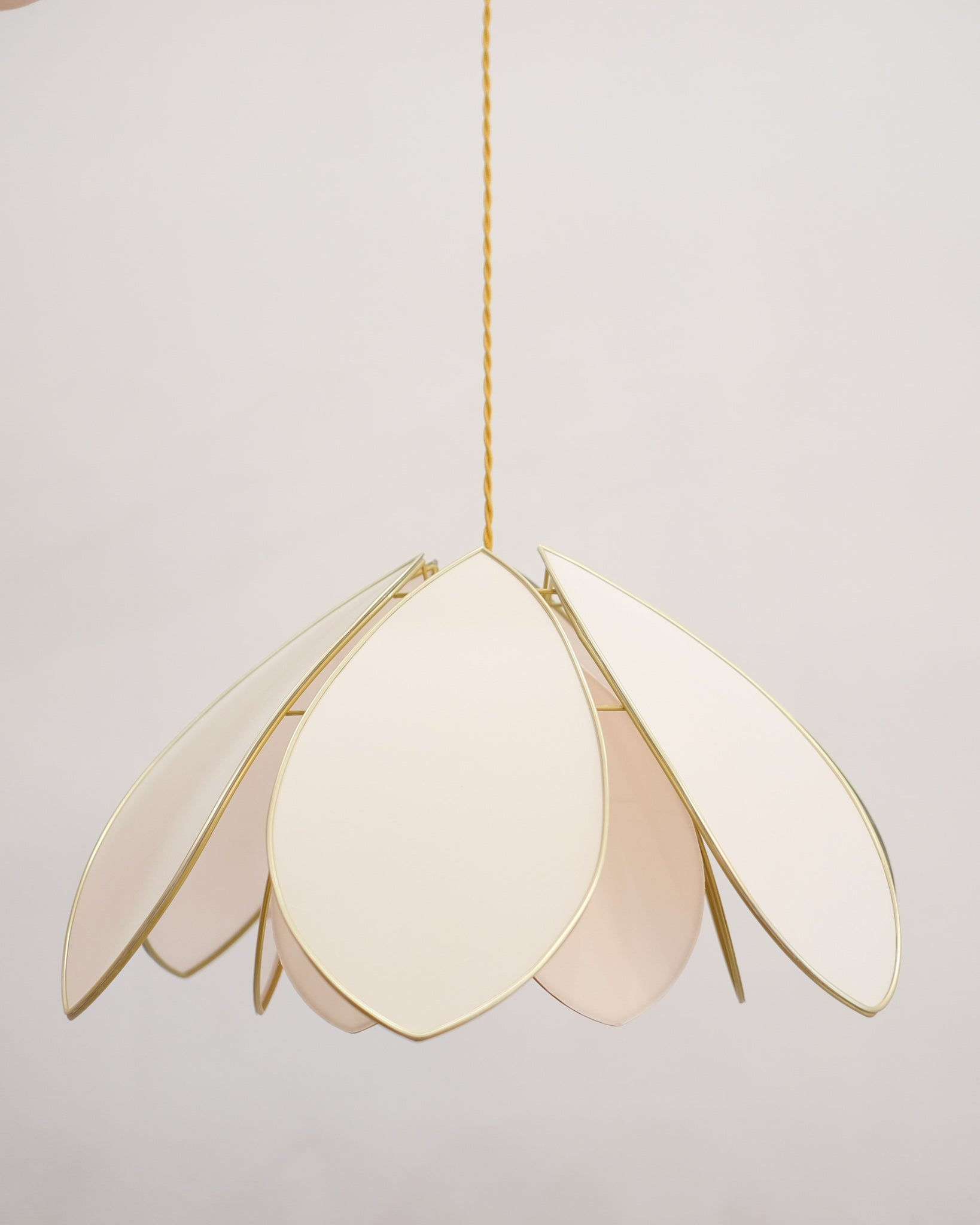 Suspension Fleur double - Nude