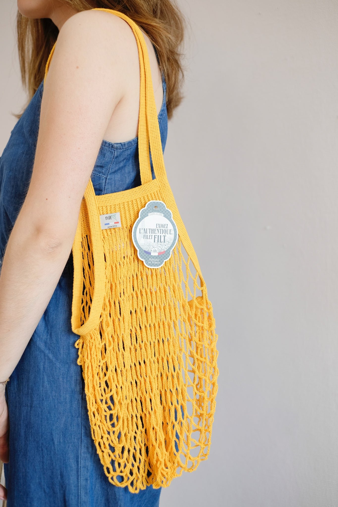Sac filet FILT - Jaune