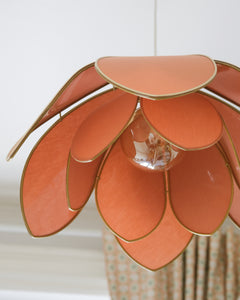 Suspension Fleur double - Ocre