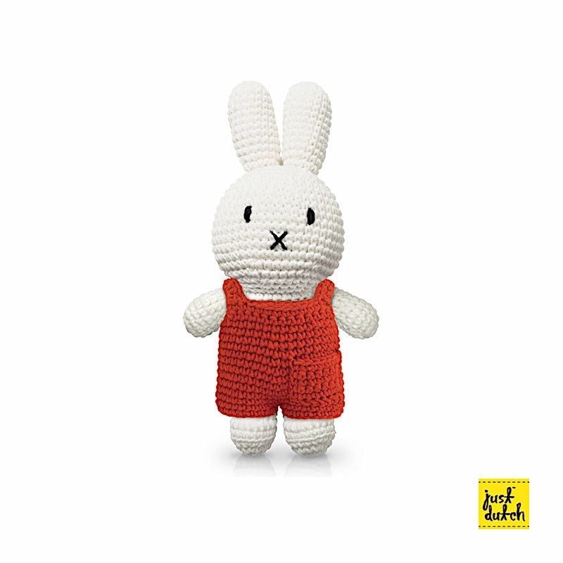 Peluche Miffy - Salopette Rouge