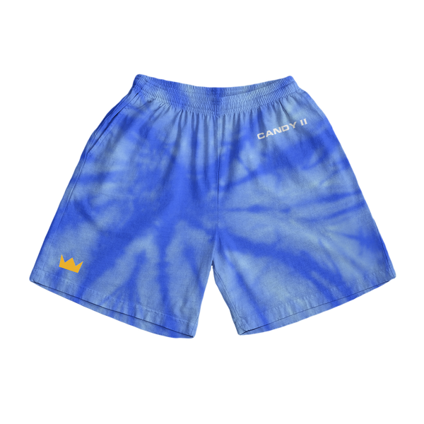 Candy Shorts - Blue Tie Dye