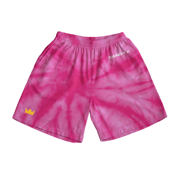 Candy Shorts - Pink Tie Dye