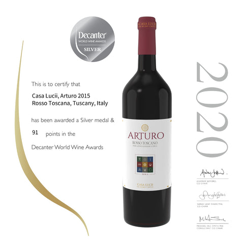 arturo-silver medal-decanter 2020-red tuscan