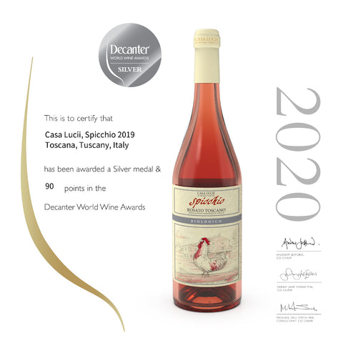 spicchio-rose wine-silver medal-decanter 2020