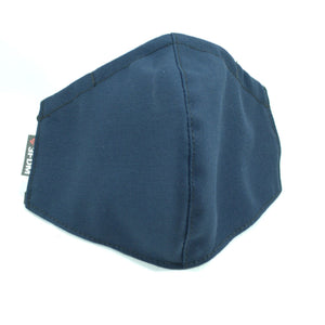 Blue reusable face mask with sewn in filter