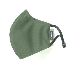 Green Reusable Face Mask profile view