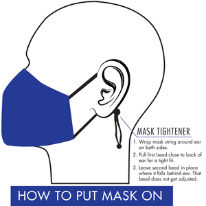 Face mask adjustable ear loop