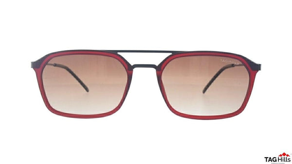 TAG Hills TG S 10394 010 TG-S-10394 Maroon Medium Aviator Full Rim UV Polarised Sunglasses
