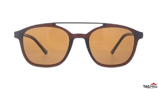 TAG Hills TG S 10408 015 TG-S-10408 Brown Medium Aviator Full Rim UV Polarised Sunglasses