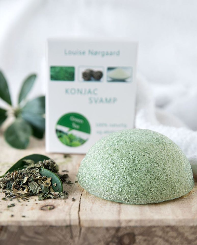 Green Tea Konjac Svamp