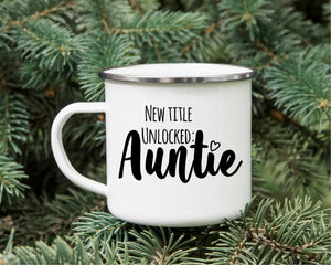 New Auntie Campfire Mug - Custom New Aunt Mugs