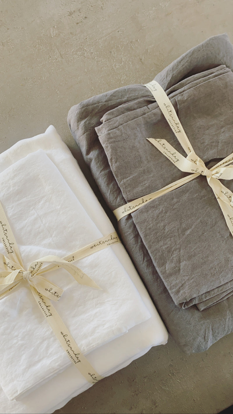 100% French Flax Duvet Set