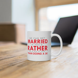 "White Ceramic Mug ""Get Married"""