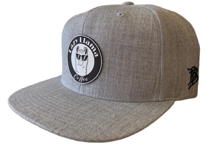 Heather Grey - White Leather Patch - SnapBack