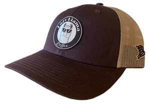 Brown/Khaki - White Leather Patch - SnapBack