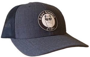 Charcoal/Black - White Leather Patch - SnapBack