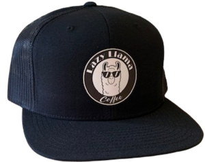 Black on Black - White Leather Patch - SnapBack