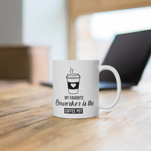 "Load image into Gallery viewer, White Ceramic Mug ""Coworker"""