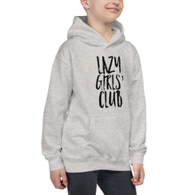 "Load image into Gallery viewer, Kids Hoodie ""Lazy Girls' Club"""