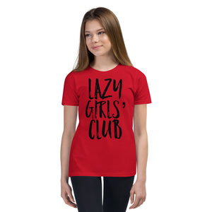 "Youth Short Sleeve T-Shirt ""Lazy Girls' Club"""